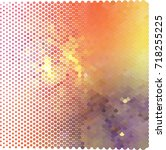 abstract halftone background.... | Shutterstock . vector #718255225