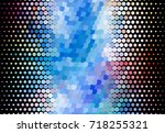abstract halftone background.... | Shutterstock . vector #718255321