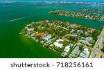 venetian islands  miami beach ...   Shutterstock . vector #718256161