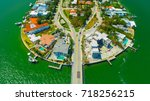 venetian islands  miami beach ...   Shutterstock . vector #718256215