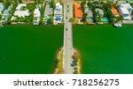 venetian islands  miami beach ...   Shutterstock . vector #718256275