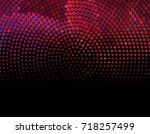 abstract halftone background.... | Shutterstock . vector #718257499
