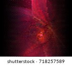 abstract halftone background.... | Shutterstock . vector #718257589