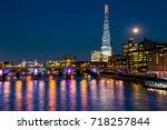 london at night | Shutterstock . vector #718257844