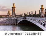 alexandre iii bridge in paris | Shutterstock . vector #718258459