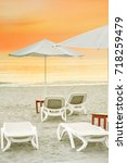 scenic sunset on adriatic sea...   Shutterstock . vector #718259479