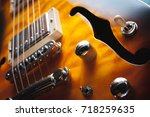 electric guitar close up | Shutterstock . vector #718259635