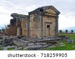 an ancient tomb and an ancient... | Shutterstock . vector #718259905