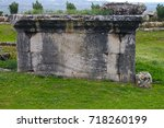 an ancient tomb and an ancient... | Shutterstock . vector #718260199