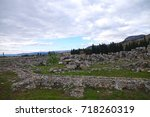 remains of ancient city of... | Shutterstock . vector #718260319