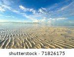 Low Tide At Boracay Beach ...