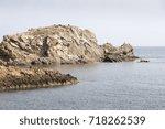 rocky coast of portman...   Shutterstock . vector #718262539