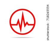 red heartbeat sign in the... | Shutterstock .eps vector #718265554