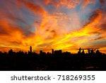 Beautiful Silhouette Sunset...