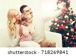 christmas  holidays  technology ... | Shutterstock . vector #718269841