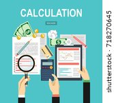 calculation concept.... | Shutterstock . vector #718270645