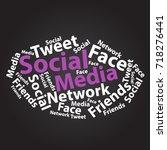 text cloud. social media... | Shutterstock .eps vector #718276441