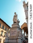 Small photo of Dante Alighieri Monument in Florence, Italy.