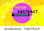 abstract colorful playful... | Shutterstock .eps vector #718279519