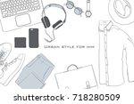 vector illustration of hand... | Shutterstock .eps vector #718280509