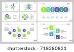 marketing diagram set | Shutterstock .eps vector #718280821