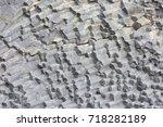 enigmatic basalt columns at...   Shutterstock . vector #718282189