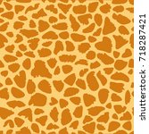 giraffe texture pattern... | Shutterstock .eps vector #718287421