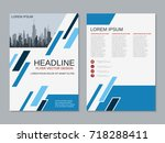 modern business two sided flyer ... | Shutterstock .eps vector #718288411
