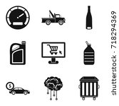 car repair service icons set.... | Shutterstock .eps vector #718294369