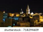 night old medieval ragusa famos ... | Shutterstock . vector #718294609
