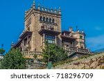 the port city of santander ... | Shutterstock . vector #718296709