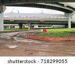 road overpass | Shutterstock . vector #718299055