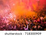 nandgaon   6 mac  2015  people... | Shutterstock . vector #718300909