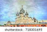 assumption cathedral in rostov... | Shutterstock . vector #718301695