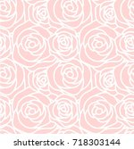 seamless pattern with white... | Shutterstock .eps vector #718303144