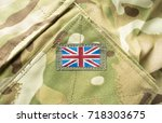 union jack   union flag badge... | Shutterstock . vector #718303675