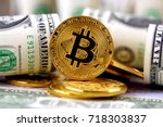 physical version of bitcoin ... | Shutterstock . vector #718303837