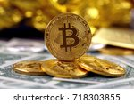 physical version of bitcoin ... | Shutterstock . vector #718303855
