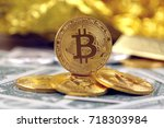 physical version of bitcoin ... | Shutterstock . vector #718303984