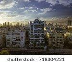 tel aviv building near to the... | Shutterstock . vector #718304221