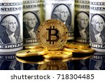 physical version of bitcoin ... | Shutterstock . vector #718304485
