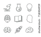 science and ideas icons | Shutterstock .eps vector #718304959