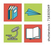 science and ideas icons | Shutterstock .eps vector #718305049