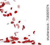 rose petals fall to the floor.... | Shutterstock . vector #718305574