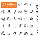 shoes properties symbols. these ... | Shutterstock .eps vector #718306435