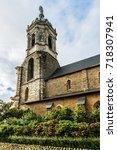 notre dame en saint melaine... | Shutterstock . vector #718307941