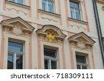 prague architecture  beautiful... | Shutterstock . vector #718309111