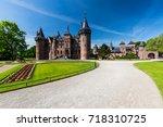 de haar castle  netherlands  ... | Shutterstock . vector #718310725