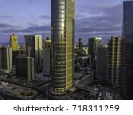 the downtown district of ... | Shutterstock . vector #718311259