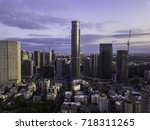 the downtown district of ... | Shutterstock . vector #718311265